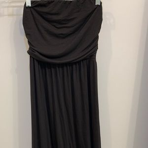 Maxi strapless black dress brand new with tags